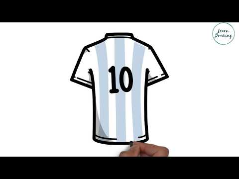 1e004fa3a How to Draw Lionel Messi Shirt step by step