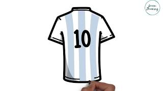 How to Draw Lionel Messi Shirt step by step| Easy Drawing Tutorial For kids