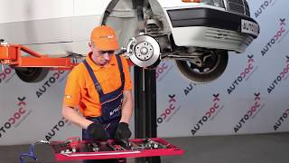 How to change Brake caliper carrier on MERCEDES-BENZ 190 (W201) - online free video