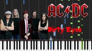 AC/DC - Dirty Eyes Synthesia Tutorial