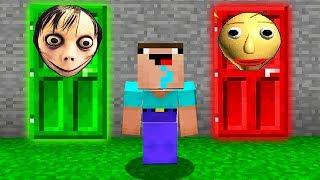 ЧТО СКРЫВАЕТСЯ ЗА СТРАШНОЙ ДВЕРЬЮ В Майнкрафте Minecraft Мультики Майнкрафт троллинг Нуб и Про
