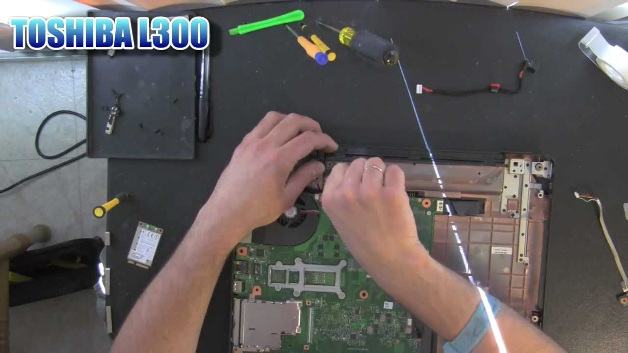 TOSHIBA Satellite L300 laptop take apart video, disassemble, how to ...