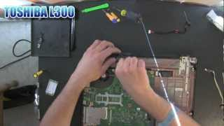 TOSHIBA Satellite L300 laptop take apart video, disassemble, how to open, video disassembly