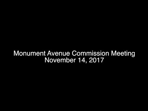 Monument Avenue Commission Meeting, November 14, 2017