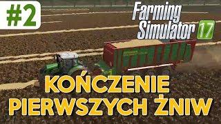 Kończenie pierwszych żniw - Farming Simulator 17 (mapa The Moris Land v2) / #2