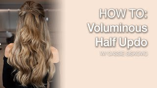 HOW TO: Voluminous Half UpDo | Kenra Platinum