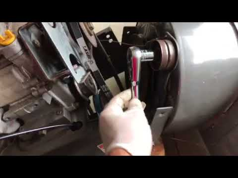 how to replace auger drive belt on craftsman snowblower