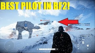 Star Wars Battlefront 2 - Such a great pilot! XD Darth Vader takes Hoth...again!
