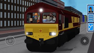GCR Roblox | Class 66 cab ride on tram tracks! Watch to the end to see something strange.