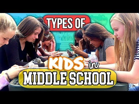 Types of Kids in Middle School