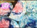 EASY DIY SOAP MAKING-MELT AND POUR GEMSTONE SOAP-BATHROOM DECORATION-GIFT SOAP-GUEST SOAP-PART.4
