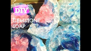 EASY DIY GEMSTONE SOAP MAKING-MELT AND POUR SOAP-BATHROOM DECORATION-GIFT SOAP-GUEST SOAP-PART.4