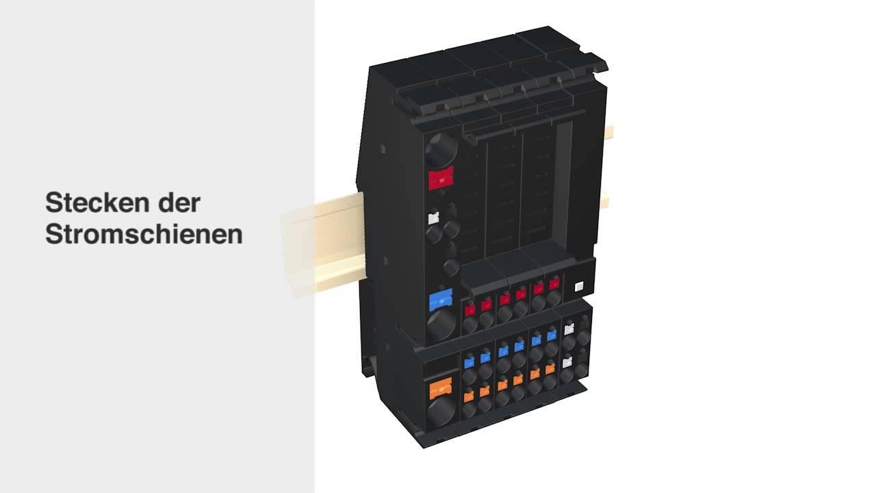 Stromverteiler Modul18plus - kompakt, sicher, modular - YouTube