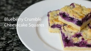 Blueberry Crumble Cheesecake Square