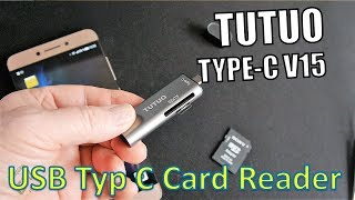 TUTUO Type C V15 Card Reader Test - SD Kartenleser Hands-on (Deutsch)