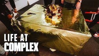 Joe La Puma Receives Special Gold Sneaker Package From DJ Khaled! | #LIFEATCOMPLEX