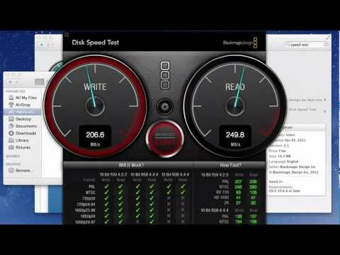 Speed Test Your Macs Hard Drive or SSD