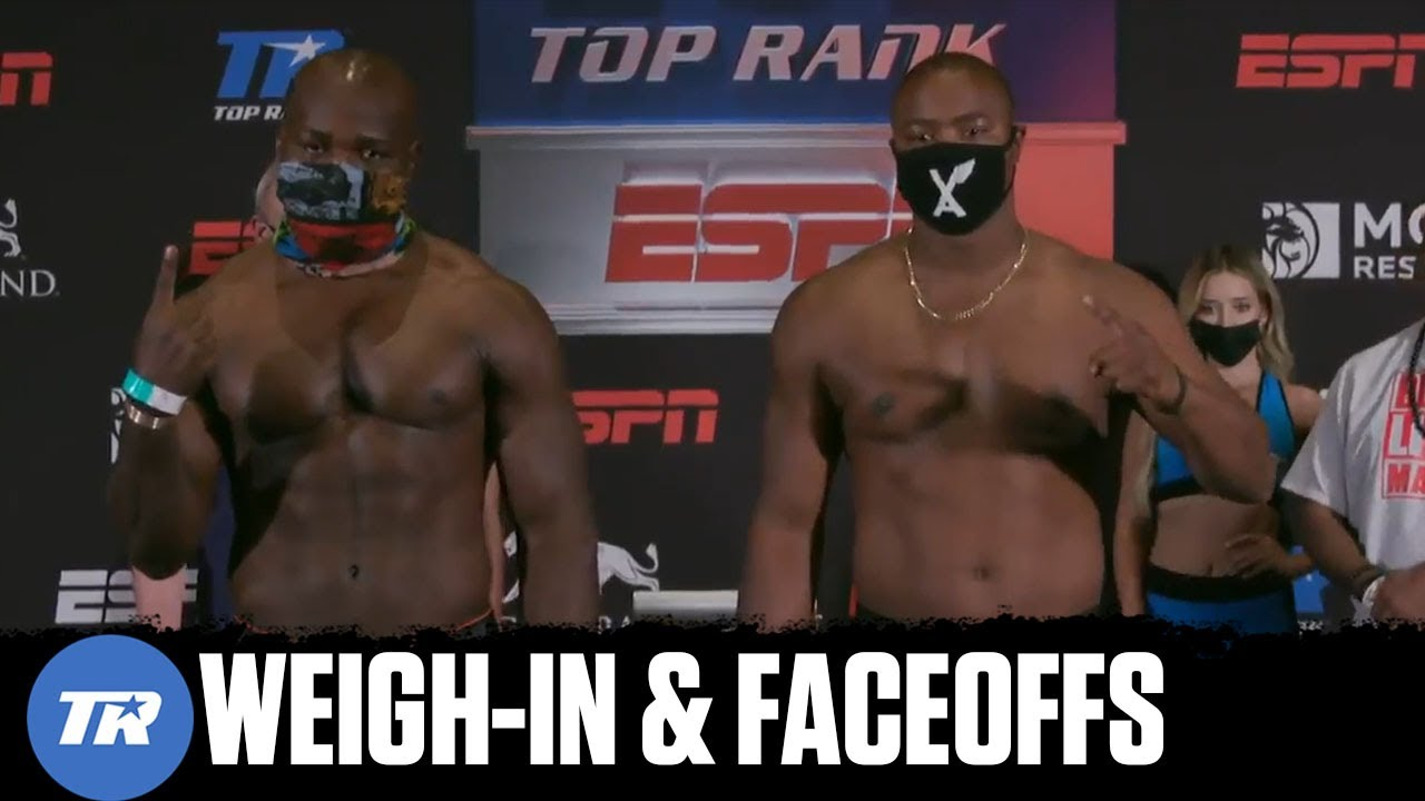 Takam vs Forrest: Weigh-In & Faceoffs