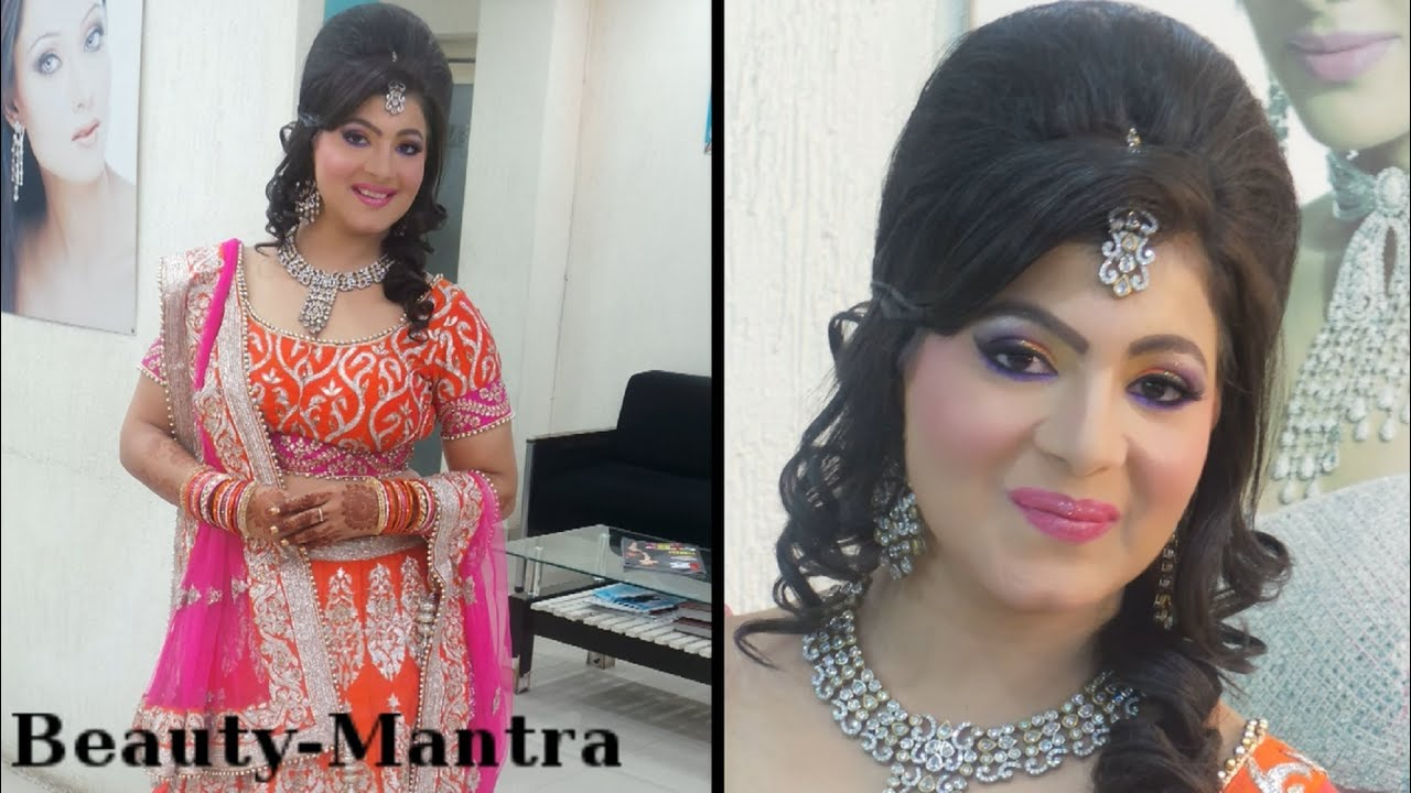 Indian Wedding Makeup Neon Party Look Complete Hair And Makeup