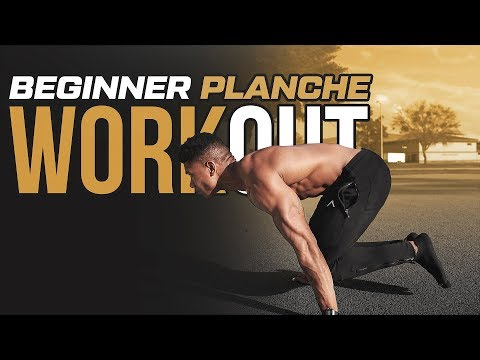 5 Min. Beginner Planche Workout - Follow...