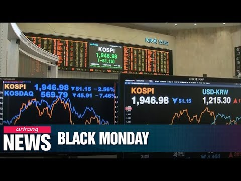 Black Monday On Korea's Stock Market..major Asian Stock Markets Also Plunge