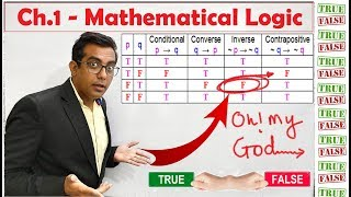 Ch.1 - Mathematical Logic - HSC - MHT CET 2020 Preparation - mathematical reasoning - truth tables