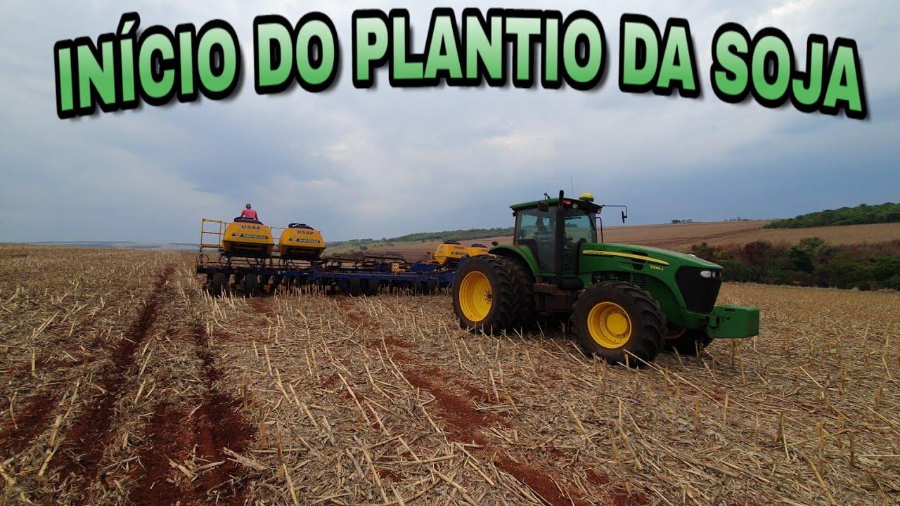 INÍCIO DO PLANTIO DA SOJA 21/22🌱