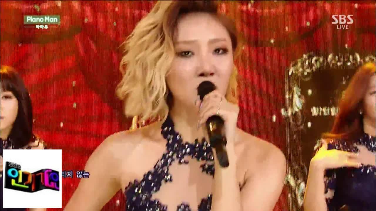 [MAMAMOO] Piano Man @ popular song Inkigayo 141228
