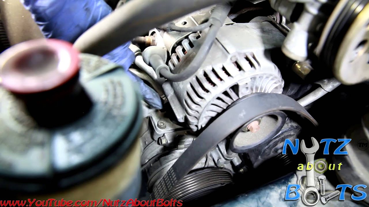 1998-2002 Honda Accord Drive belt remove and install - YouTube