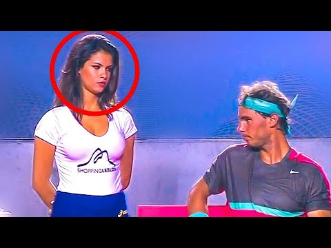 Hottest Ball Girl In Tennis History  RAFAEL NADAL Staring  in RIO OPEN 2014
