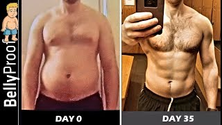 RIPPED Before After Body Transformation | BellyProof Online Training & Intermittent Fasting Results