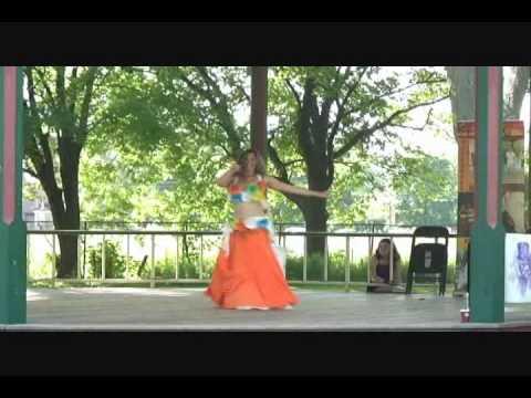 Shakira's Waka Waka (Esto Es Africa) bellydance fusion and drum solo performance by Cassandra Fox