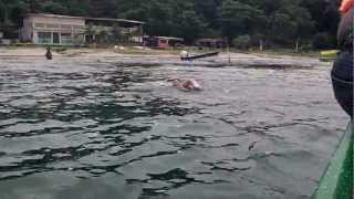 El Salvador: lake Apulo part 2, Swam 4 Kilometers Travel Video