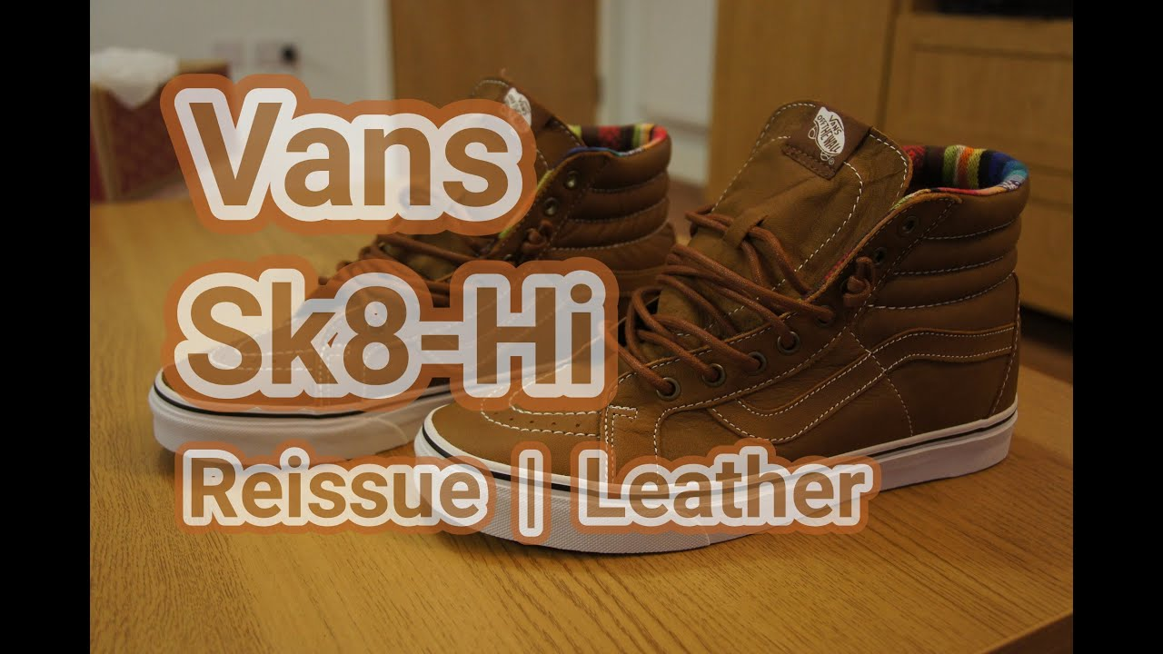 ebd43e5fc5a Vans Sk8-Hi Reissue Leather Brown Guate