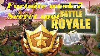 Fortnite Week 7 BattlePass Secret Spot!!! / Treasure Map Found In Retail Row!!