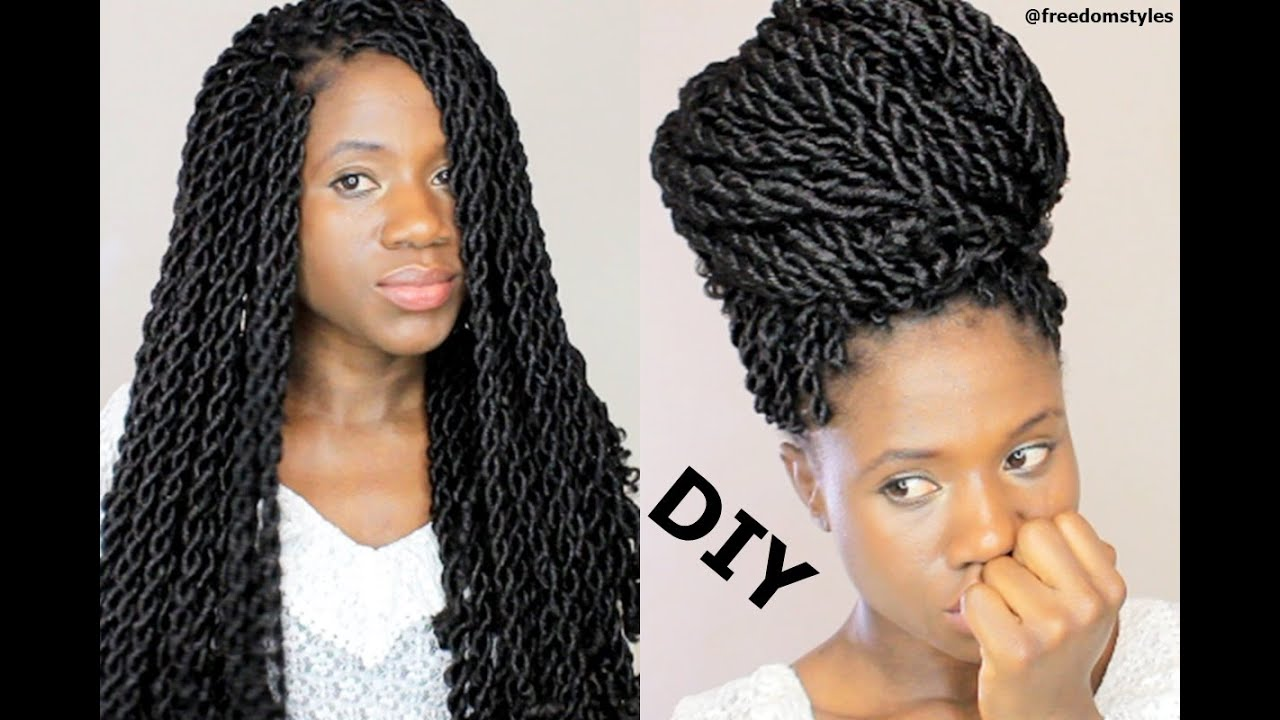 HOW TO DO KINKY CROCHET BRAIDS ONE HAIR 3 STYLES  YouTube
