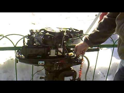 Мотор лодочный Hidea 6 л.с. 4х тактный, обзор - YouTube