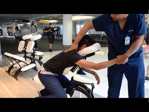 How to do a Chair Massage, Step by Step Tutorial  Working at The Airport on Youtube