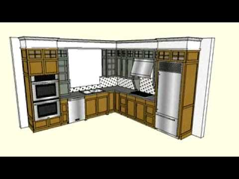Kitchen Design In Sketchup Animation Video Youtube