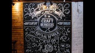 Леттеринг. Роспись меловой доски. Бургерная Craft Burgers(, 2016-08-02T04:02:55.000Z)