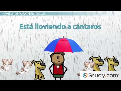 Spanish Idioms To Describe Weather