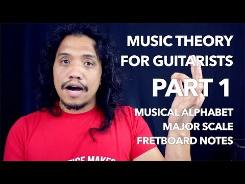 Music Theory for Guitarists PART 1 | Musical Alphabet - Major Scale - Fretboard Notes