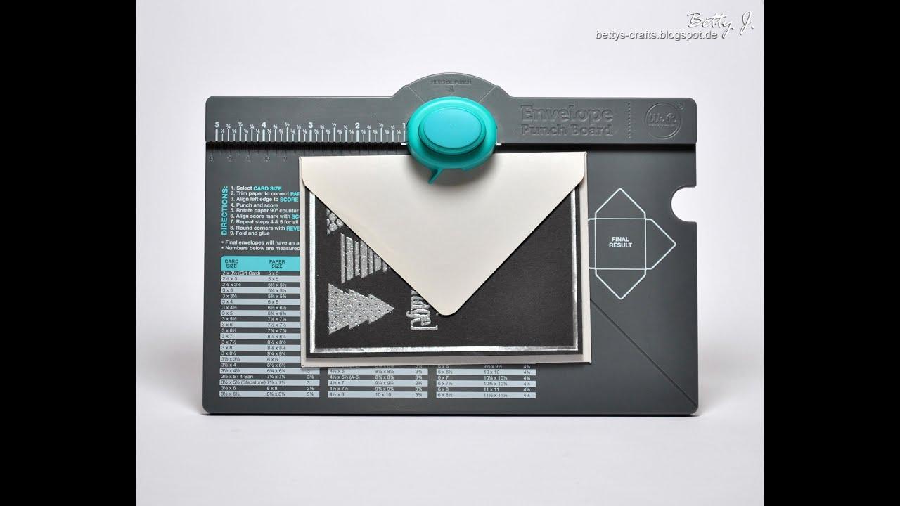 Briefumschlag Für Standard Karten Mit Dem Envelope Punch Board Youtube