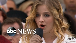 Jackie Evancho Sings the National Anthem at Trump