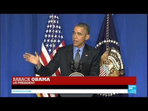 US President Barack Obama holds news conference at Paris Climate Summit - COP21