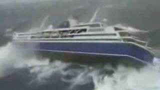 Cruise Ship During Storm Outside Footage