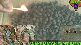 EXPERIMENT: Black Snake match Science Experiment | snake match box experiment by Bhargavi 📺