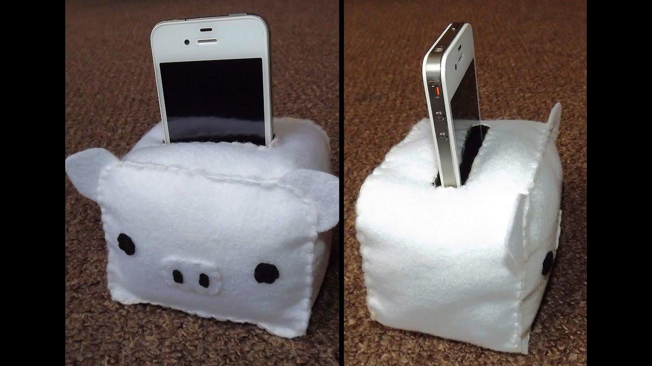 how to make a monokuro boo phone ipod holder plush youtube