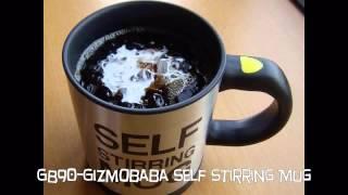 Gb90-gizmobaba Self Stirring Mug. Make Cappuccino, Mix Tea Cup Coffee Juice Etc