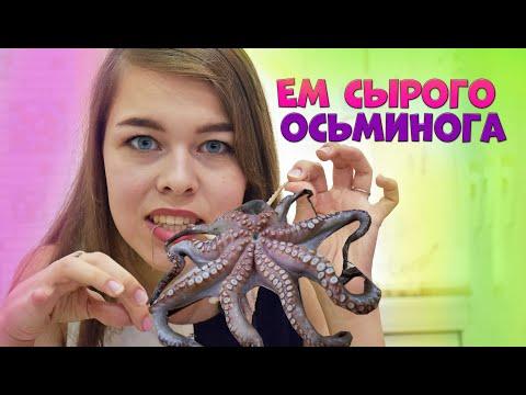 УЖАС!!! Я ем сырого осьминога/ Не повторять